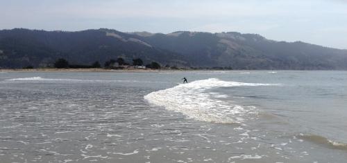Rachel surfing