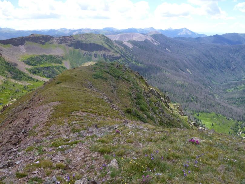 Vista of mountain peaks