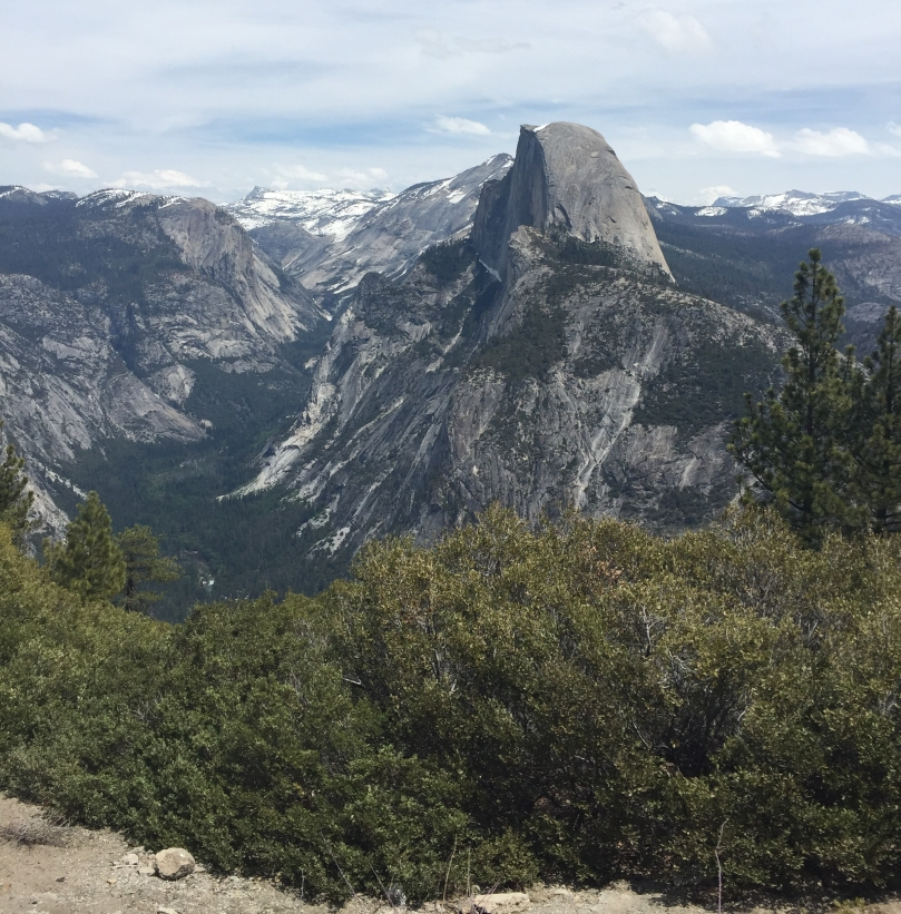 Half dome and the valleyse